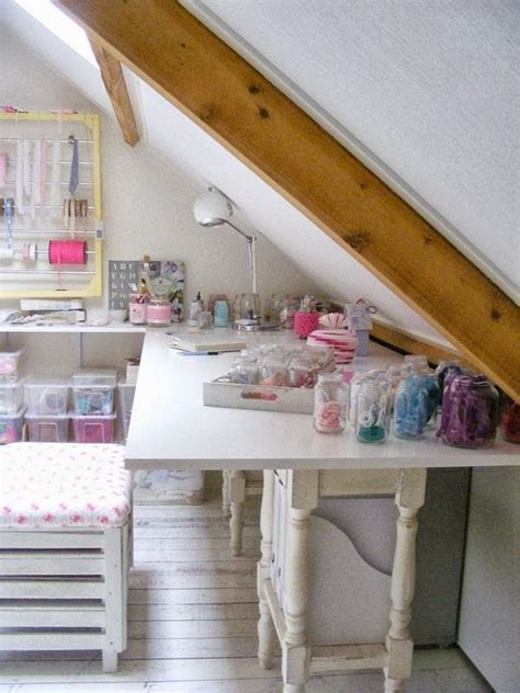 A Creative Attic Craft Room  Storage Ideas Pinterest