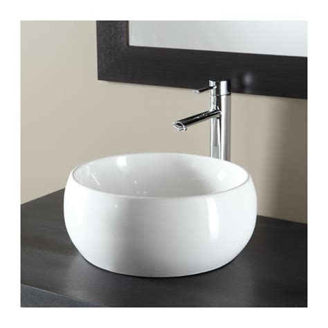 vasque 224 poser en bol et porcelaine blanche plomberie sanitaire chauffage
