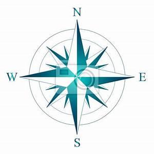 Süd Ost West Nord : wind stieg mit der bezeichnung von nord s d west und ost vektor fototapete fototapeten ~ Markanthonyermac.com Haus und Dekorationen