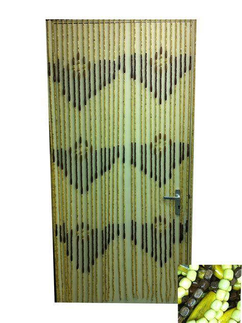 door curtain wooden bamboo beaded screen room divider