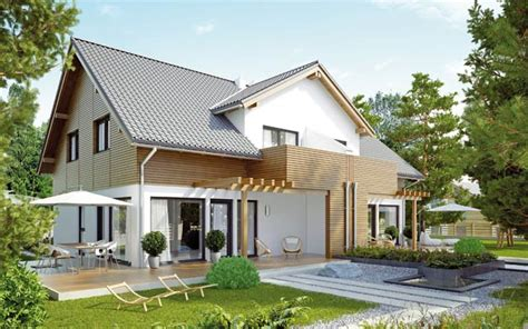 Fertighaus Doppelhaus