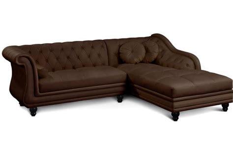 canap 233 d angle marron style chesterfield design en direct de l usine sur sofactory