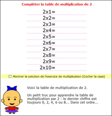 multiplication tables de multiplications de 1 2 3 4 5 6 7 8 9 10 table de 11 table de 12 13 14