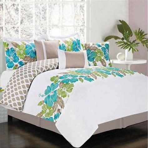 Hawaiian Island Hibiscus Tropical Queen Comforter Set (7