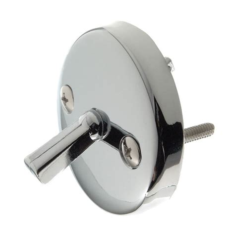 overflow plate with trip lever in chrome danco