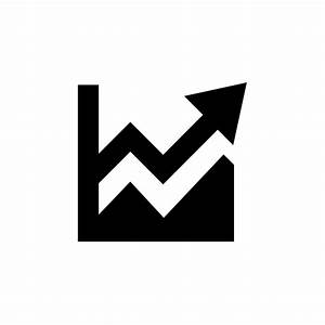 Black growth graph icon png vector - Pixsector