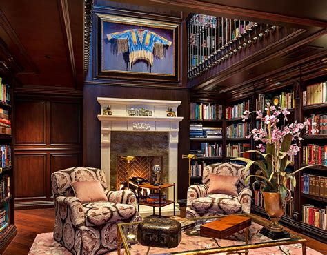 Home Library : Classic Home Library Design Ideas Imposing Style