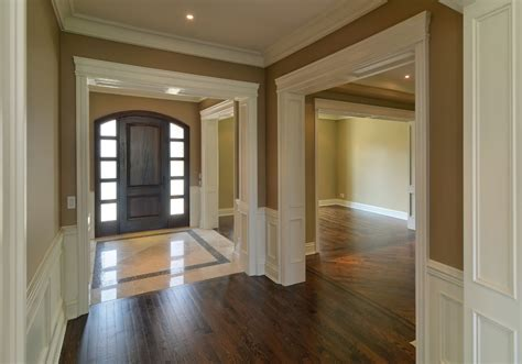foyer tile designs entry traditional with baseboard black door crown beeyoutifullife