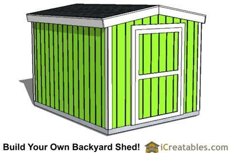 8x10 shed plans icreatables