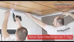 Holzdecke Im Bad : holzdecken mit spanndecken renovieren montagevideo raumdecken renovieren spanndecken ~ Markanthonyermac.com Haus und Dekorationen