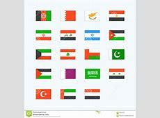 Drapeaux De Pays Du MoyenOrient Illustration de Vecteur