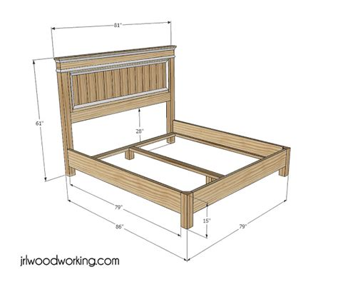King Size Bed Woodworking Plans by 187 King Size Bed Frame With Headboard Plans Pdf
