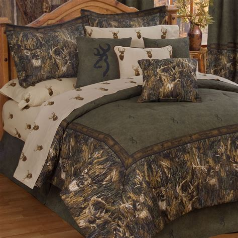 browning r whitetails deer camo comforter bedding