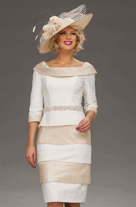 Boat Neck Mother Of The Groom Dress by Short Fitted Dress With Wide Boat Neckline Isl283