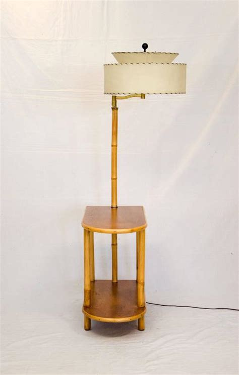 rattan end table with attached l at 1stdibs