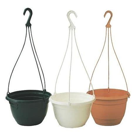 25cm plastic hanging plant pots