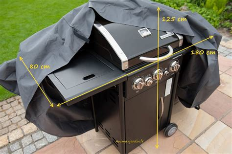 housse de protection barbecue gaz plancha 180 cm imperm 233 able
