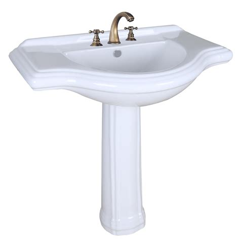 White Pedestal Sinks by Large Pedestal Sink Bathroom Console 8 Quot Widespread 34 Quot W