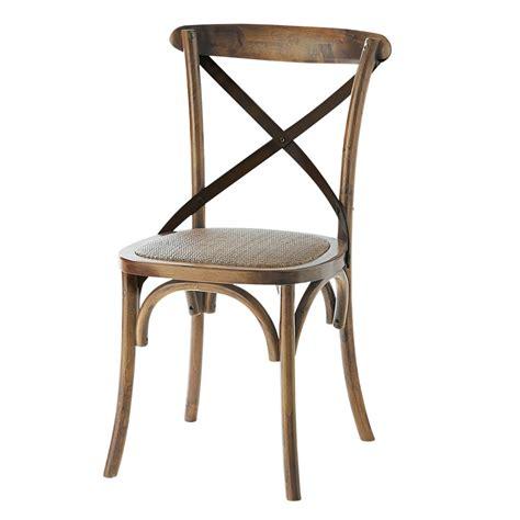 chaise en rotin naturel et ch 234 ne effet vieilli tradition maisons du monde
