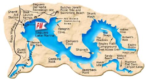 East Canyon Lake Boat Rentals by Arizona Local River Lake Maps East Valley Kayak