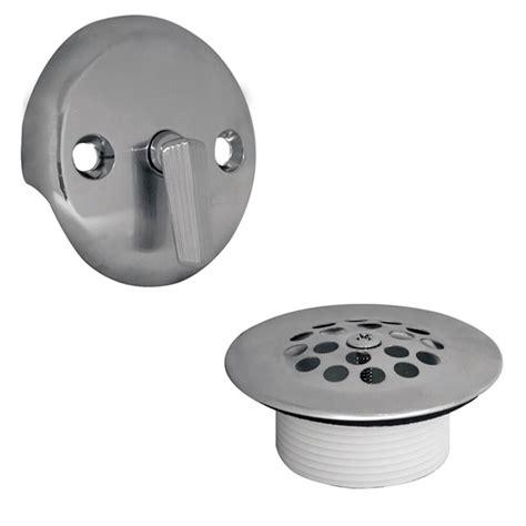 bathtub trip lever drain trip lever tub drain trim kit with overflow in chrome danco
