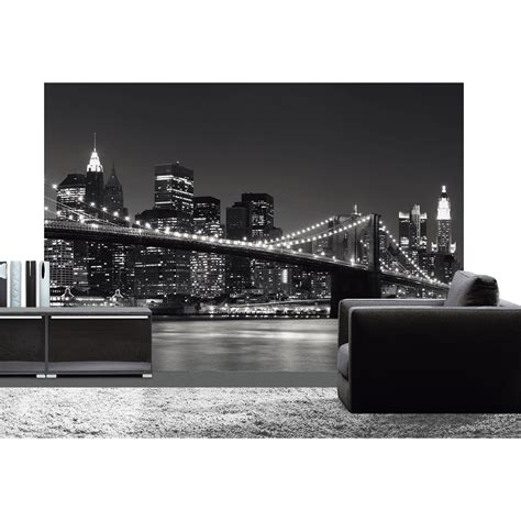 poster de mur new york skyline 366 x 254 cm leroy merlin