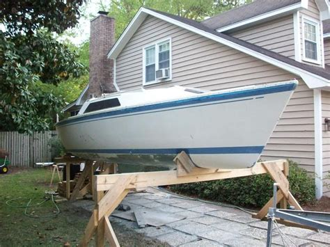 How To Lift A Boat Off The Trailer To Paint by How To Lift Boat Off Of Trailer Sailboatowners