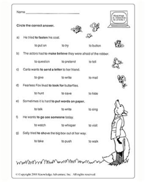 What's The Good Verb?  I  Vocabulary Test For Grade 2 Jumpstart