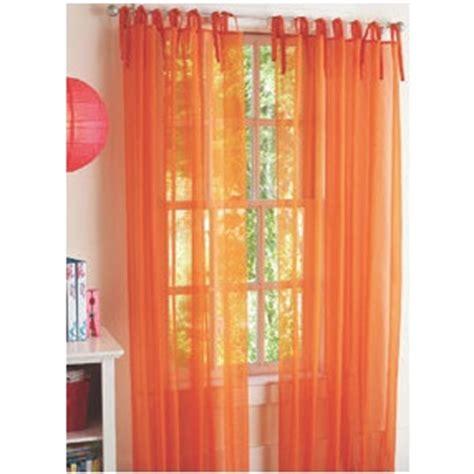 sheer orange curtains walmart home ideas