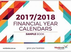 20172018 Financial Year Calendars Sample Book by