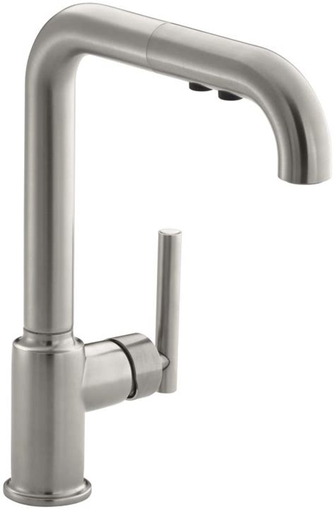 kohler k 7505 vs vibrant stainless single handle pullout