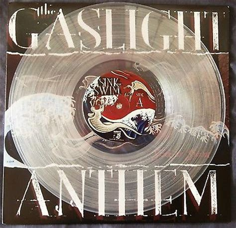 popsike the gaslight anthem sink or swim clear vinyl ed with insert lim 500 copies