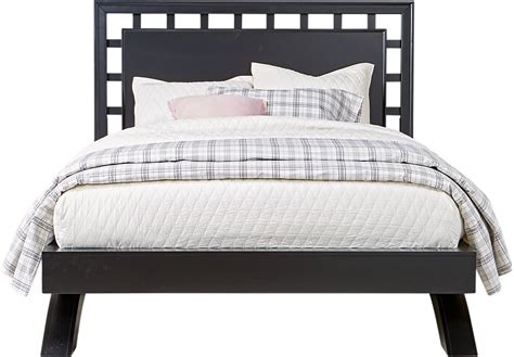 belcourt black 3 pc king platform bed with lattice headboard king beds colors