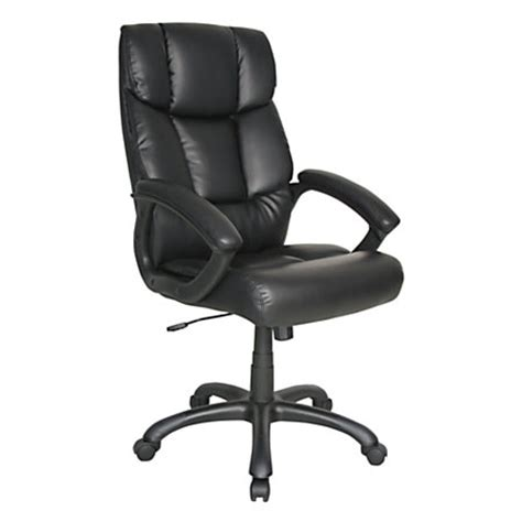 realspace merrick high back bonded leather chair 48 716 h