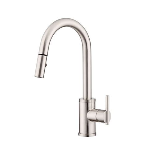 danze d454558ss parma single handle pull kitchen faucet in stainless steel