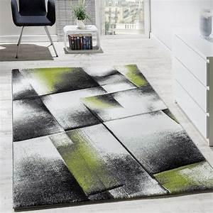 Teppich Wohnzimmer Grau : designer teppich wohnzimmer teppiche kurzflor meliert gr n grau creme schwarz wohn und ~ Markanthonyermac.com Haus und Dekorationen