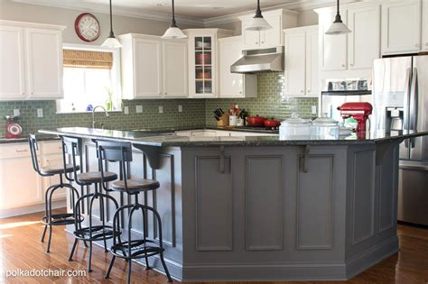 Painted Kitchen Cabinet Ideas And Kitchen Makeover Reveal Chaise Lounge Chairs For Living Room Beach Colors Arranging Furniture Light Exotic Rooms Sets Western Curtains Window Ideas