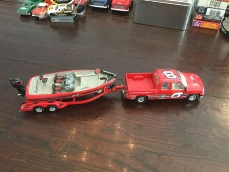 Toy Fishing Boat And Trailer by Action 1 43 Nitro Speed Bass Boat Trailer And Chevy Pick
