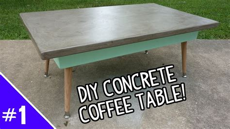 Diy Concrete Coffee Table Writehookstudiocom