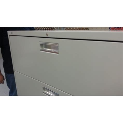 hon grey 4 drawer lateral file cabinet locking allsold ca buy sell used office furniture