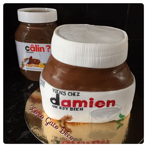 demi pot de nutella cakedesignfactory
