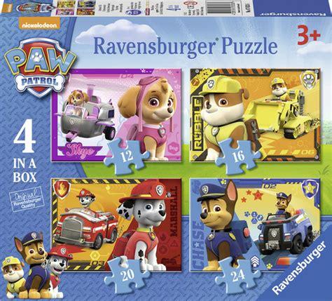 paw patrol la pat patrouille puzzle 4 en 1 jeux