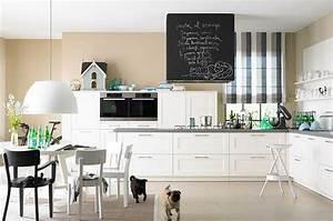 Wohnzimmer Wandfarbe Sand : sandt ne und wei machen die k che freundlich bild 19 sch ner wohnen ~ Markanthonyermac.com Haus und Dekorationen