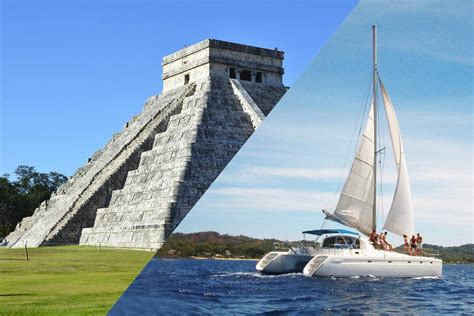 Isla Mujeres By Catamaran by Combo Chichen Itza Deluxe Tour Plus Sail By Catamaran To