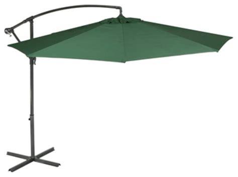 sturdi plus cantilever aluminum garden parasol crank plain green contemporary