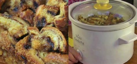 start and end your day with crock pot cinnamon raisin bread pudding