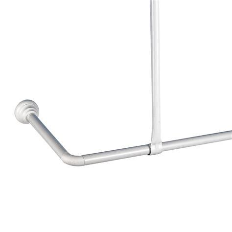 tringle angle galedo aluminium 80 x 180 cm douchette et barre de cabine de