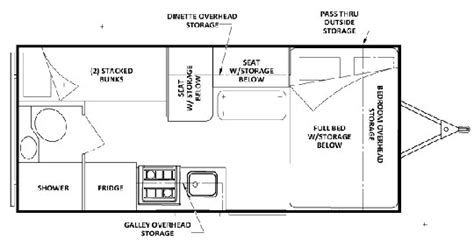 Travel Trailer Floor Plans With Bunk Beds Top 5 Lite Travel Trailers With Bunk Beds