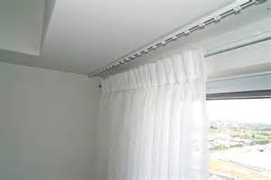 ceiling mounted curtain track system suspended offset