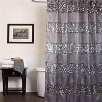 "bathroom shower curtains Popular Bath Sinatra Silver Collection - 70"" x 72 ..."